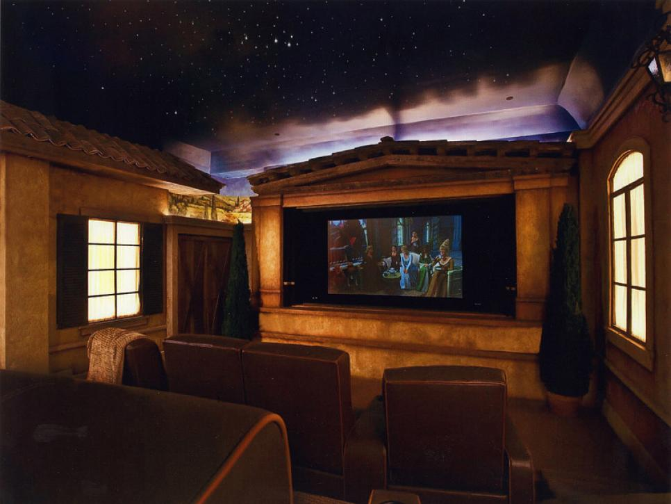 amazing home theater french chateau