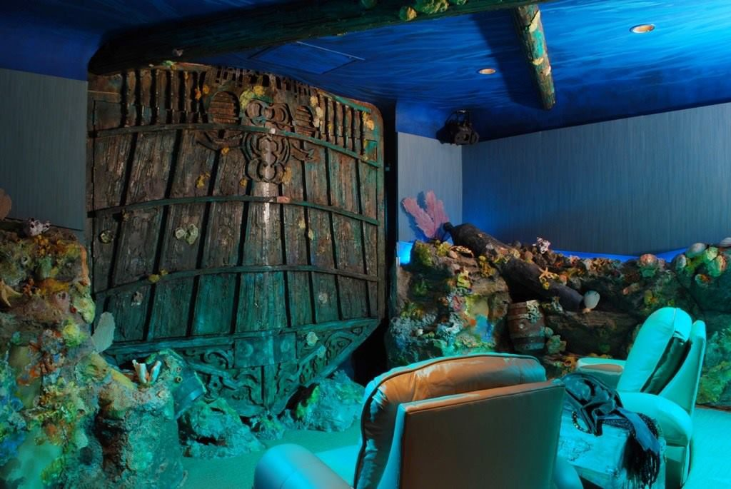 amazing home theaters sunken ship