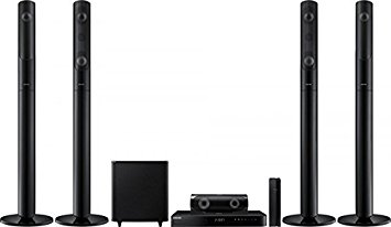 samsung home theater with wireless rear speakers. samsung ht-j5550wk smart bluetooth multi-region free 5.1-channel home theater wireless speaker system with rear speakers