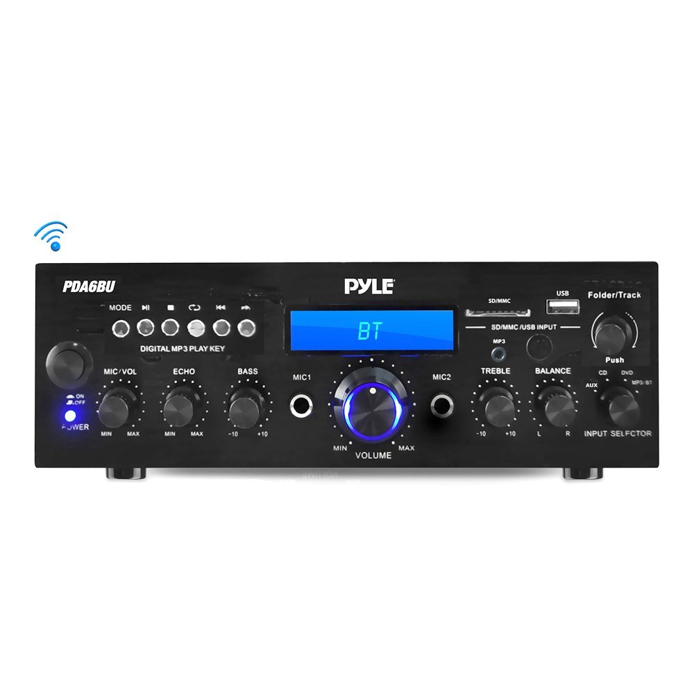 Pyle Wireless Bluetooth Power Amplifier System - Budget Speaker Amps (2-channel)