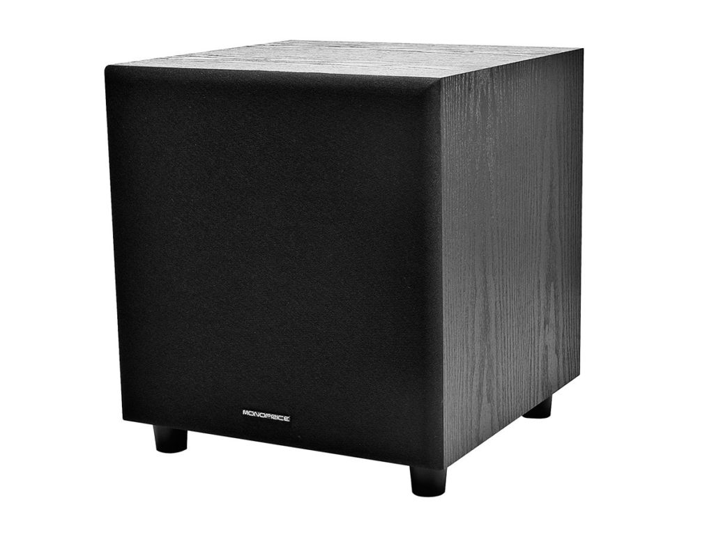 Monoprice 108248 8-Inch 60-Watt Powered Subwoofers Under $200