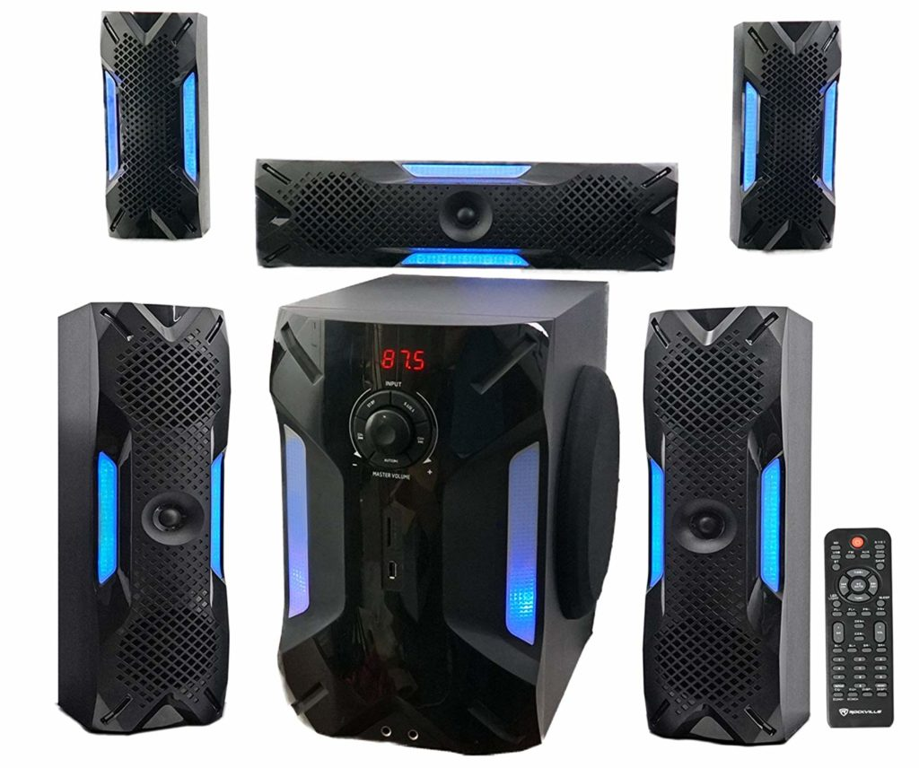 Rockville HTS56 1000w 5.1 Channel Home Theater System Packages Under $1,000