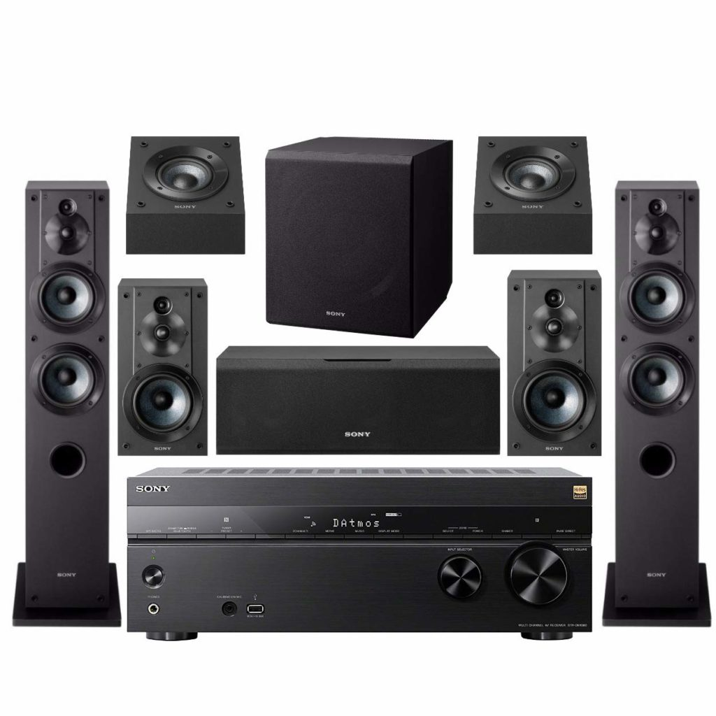 Budget Home Theater Sony STR-DN1080 AV Receiver Bundle