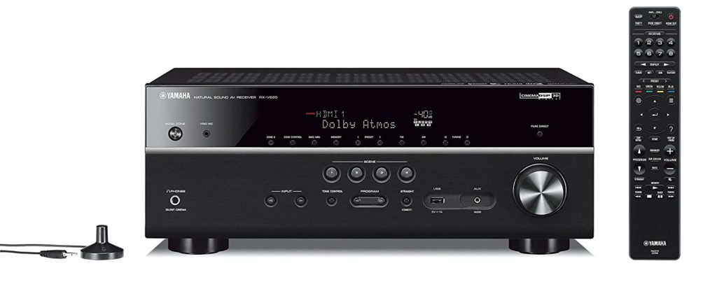 Yamaha RX-V685 7.2-Channel with MusicCast Budget Home Theater Best AV Receivers