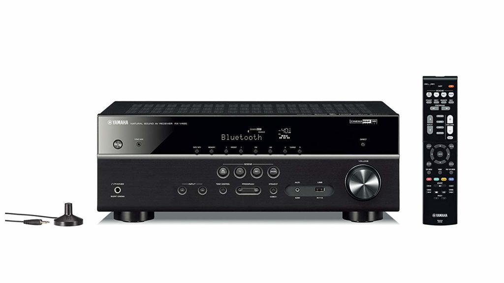 Yamaha RX-V485BL 5.1-Channel 4K Ultra HD Budget Home Theater Best AV Receivers