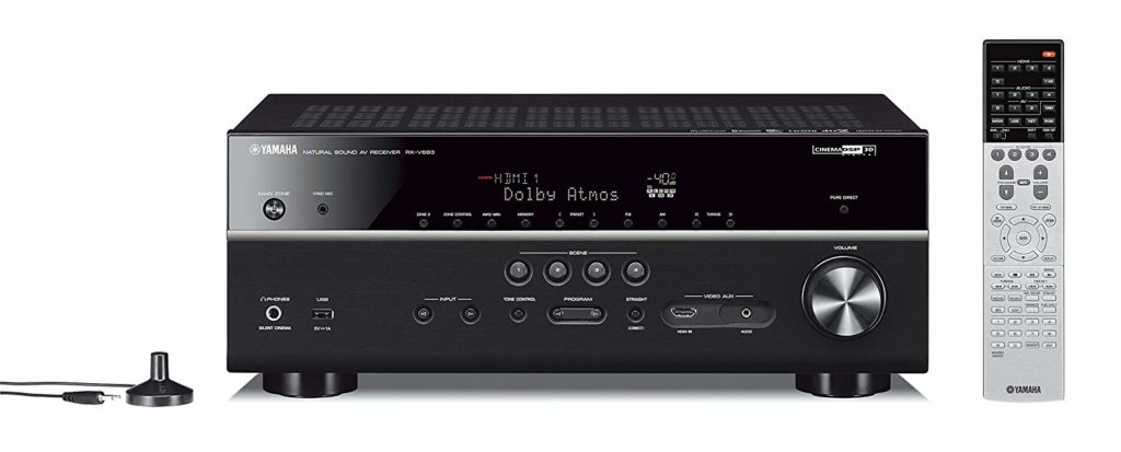Yamaha RX-V683BL 7.2-Channel MusicCast Budget Home Theater Best AV Receivers